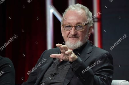 """Robert Englund participates in the """"Eli Roth's History of Horror """" panel during the TCA Summer Press Tour, in Beverly Hills, Calif"""
