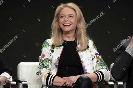 """Faith Ford attends the """"Murphy Brown"""" panel during the Television Critics Association Summer Press Tour at the the Beverly Hilton Hotel, in Beverly Hills, Calif"""