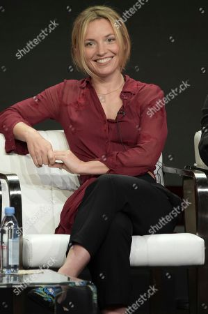 """Perdita Weeks participates in the """"Magnum P.I"""" panel during the Television Critics Association Summer Press Tour at the the Beverly Hilton Hotel, in Beverly Hills, Calif"""
