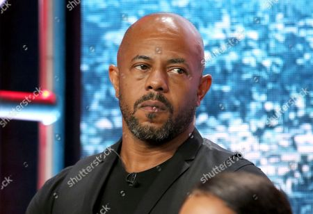 "Rockmond Dunbar participates in the ""9-1-1"" panel during the Fox Television Critics Association Summer Press Tour at The Beverly Hilton hotel, in Beverly Hills, Calif"