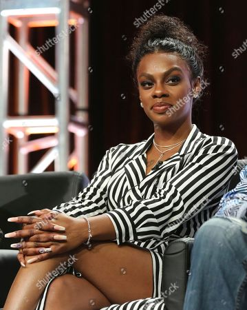 """Jessica """"Jess Hilarious"""" Moore participates in the """"Rel"""" panel during the Fox Television Critics Association Summer Press Tour at The Beverly Hilton hotel, in Beverly Hills, Calif"""