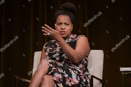 "Courtney Kemp Agboh participates in the ""Power"" panel during the TCA Summer Press Tour, in Beverly Hills, Calif"