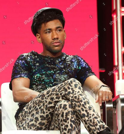 """Brandon Mychal Smith participates in the """"Rise of the Teenage Mutant Ninja Turtles"""" panel during the Viacom Television Critics Association Summer Press Tour at The Beverly Hilton hotel, in Beverly Hills, Calif"""