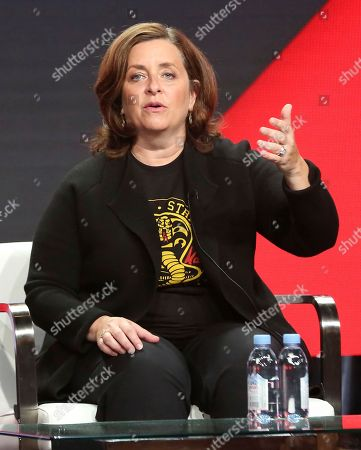 Susanne Daniels, global head of original content, YouTube, participates in the executive panel during the YouTube Television Critics Association Summer Press Tour at The Beverly Hilton hotel, in Beverly Hills, Calif