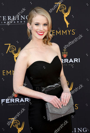 Carlie Craig arrives at the 70th Los Angeles Area Emmy Awards, at the Saban Media Center at Television Academy's North Hollywood, Calif. headquarters on