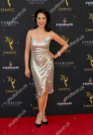 Stock Picture of Cher Calvin arrives at the 70th Los Angeles Area Emmy Awards, at the Saban Media Center at Television Academy's North Hollywood, Calif. headquarters on