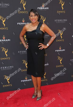 Pat Harvey arrives at the 70th Los Angeles Area Emmy Awards, at the Saban Media Center at Television Academy's North Hollywood, Calif. headquarters on