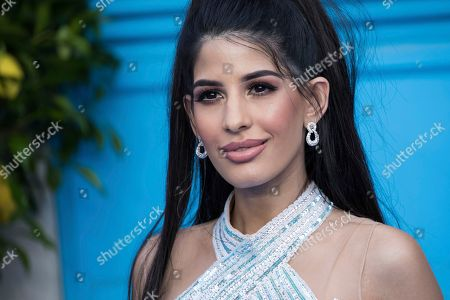 Jasmin Walia poses for photographers upon arrival at the premiere of the film 'Mamma Mia! Here We Go Again', in London