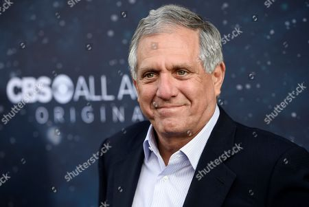"Les Moonves, chairman and CEO of CBS Corporation, poses at the premiere of the new television series ""Star Trek: Discovery"" in Los Angeles. ""60 Minutes"" Executive Producer Jeff Fager is delaying his return from vacation until a probe into sexual misconduct claims wraps up. On, the network said Fager will not return from his scheduled vacation Monday as planned. Allegations against Fager and Moonves appeared in a New Yorker article in July"