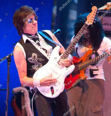 "Jeff Beck performs in concert during the ""Stars Align Tour"" at the BB&T Pavilion, in Camden, N.J"