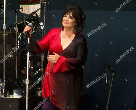 "Ann Wilson, of the band Heart, performs solo in concert during the ""Stars Align Tour"" at the BB&T Pavilion, in Camden, N.J"