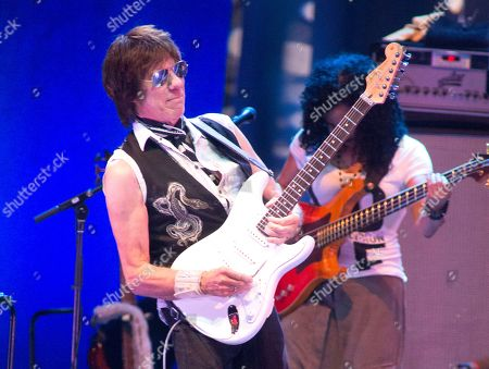 "Stock Image of Jeff Beck performs in concert during the ""Stars Align Tour"" at the BB&T Pavilion, in Camden, N.J"