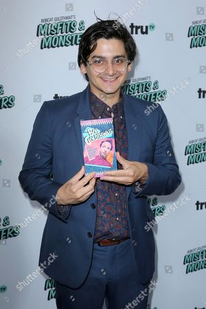 """Josh Fadem arrives at the LA Premiere of """"Bobcat Goldthwait's Misfits and Monsters"""" at The Hollywood Roosevelt, in Los Angeles"""