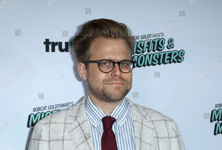 "Adam Conover arrives at the LA Premiere of ""Bobcat Goldthwait's Misfits and Monsters"" at The Hollywood Roosevelt, in Los Angeles"