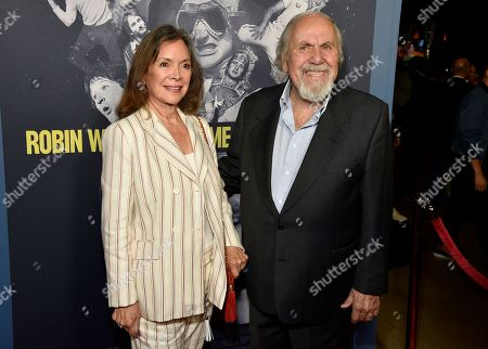 "Jolene Brand, left, and George Schlatter arrive at the Los Angeles premiere of ""Robin Williams: Come Inside My Mind"" at the TCL Chinese Theatre on"