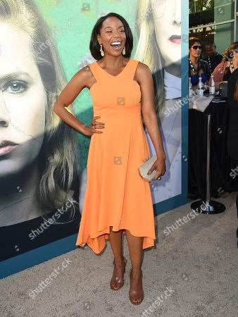 """Hilary Ward arrives at the Los Angeles premiere of """"Sharp Objects"""" at the Cinerama Dome on"""