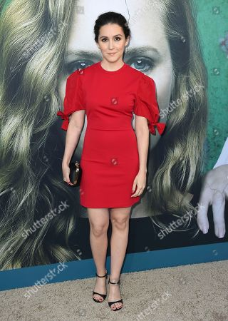 """Shannon Woodward arrives at the Los Angeles premiere of """"Sharp Objects"""" at the Cinerama Dome on"""