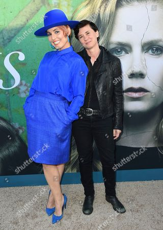 """Noomi Rapace, left, and Kimberly Peirce arrives at the Los Angeles premiere of """"Sharp Objects"""" at the Cinerama Dome on"""