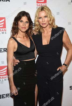"Stock Picture of Actors Ana Ularu, left, and Veronica Ferres attend the premiere of ""Siberia"" at Metrograph, in New York"