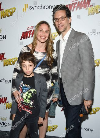 "Stock Photo of Ben Shenkman and his family attend a special screening of ""Ant-Man and the Wasp"" at the Museum of Modern Art, in New York"