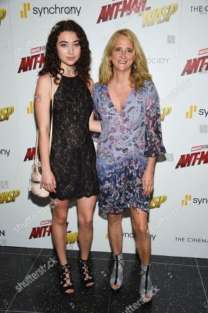 """Nanette Lepore and daughter attend a special screening of """"Ant-Man and the Wasp"""" at the Museum of Modern Art, in New York"""