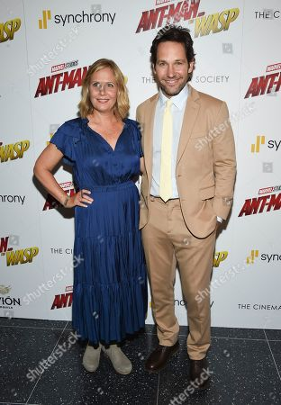 """Actor Paul Rudd and wife Julie Rudd attend a special screening of """"Ant-Man and the Wasp"""" at the Museum of Modern Art, in New York"""