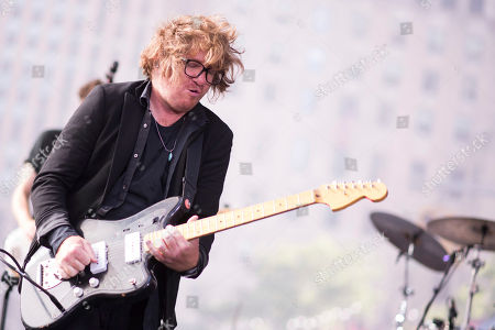 """Drew Brown from the band OneRepublic performs on NBC's """"Today"""" show at Rockefeller Plaza, in New York"""