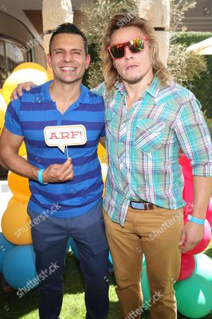 """Producer Pete Shilaimon and Tony Cavalero seen at the premiere of """"Dog Days"""" at the Westfield Century City Mall, in Los Angeles"""