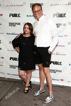 """Stock Photo of Rachel Dratch, left, and Jeff Hiller, right, attend the opening night of the Shakespeare in the Park production of Public Works' """"Twelfth Night"""" at the Delacorte Theater, in New York"""
