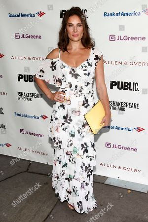"Laura Benanti attends the opening night of the Shakespeare in the Park production of Public Works' ""Twelfth Night"" at the Delacorte Theater, in New York"
