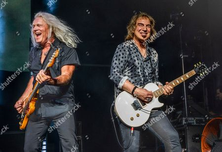 Editorial picture of REO Speedwagon in Concert - , Mass., Mansfield, USA - 5 Aug 2018