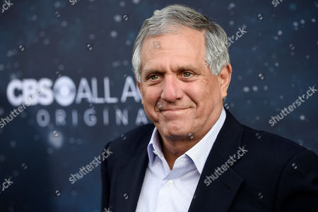 "Les Moonves, chairman and CEO of CBS Corporation, poses at the premiere of the new television series ""Star Trek: Discovery"" in Los Angeles. The CBS board said, it was investigating allegations of ""personal misconduct"" involving Moonves"