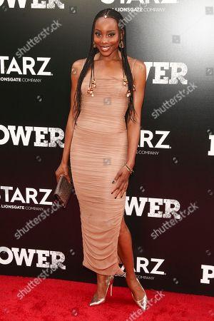 "Erica Ash attends the Starz Original Series ""Power"" Season 5 world premiere at Radio City Music Hall, in New York"