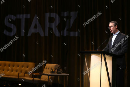 Carmi Zlotnik, Starz President of Programming, attends the STARZ TCA panel at The Beverly Hilton Hotel on in Beverly Hills, Calif