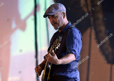Joey Santiago with Pixies performs as the opener for Weezer at Lakewood Amphitheatre, in Atlanta