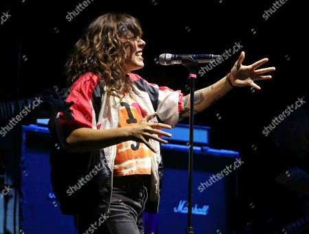 Alexis Krauss with Sleigh Bells performs at Lakewood Amphitheatre, in Atlanta