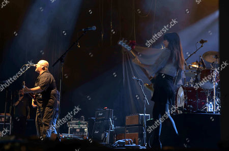Black Francis, David Lovering, Joey Santiago and Paz Lenchantin with Pixies performs as the opener for Weezer at Lakewood Amphitheatre, in Atlanta