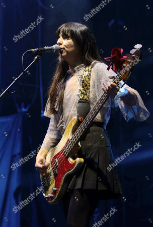 Paz Lenchantin with Pixies performs as the opener for Weezer at Lakewood Amphitheatre, in Atlanta