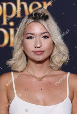 """Stock Photo of Mia Stammer arrives at the World Premiere of Disney's """"Christopher Robin"""" at the Walt Disney Studios, in Burbank, Calif"""