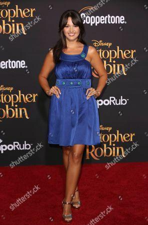 "Paula Garces arrives at the World Premiere of Disney's ""Christopher Robin"" at the Walt Disney Studios, in Burbank, Calif"