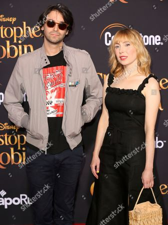 """Stock Picture of Alex Ross Perry, left, and Anna Bak-Kvapil arrive at the World Premiere of Disney's """"Christopher Robin"""" at the Walt Disney Studios, in Burbank, Calif"""