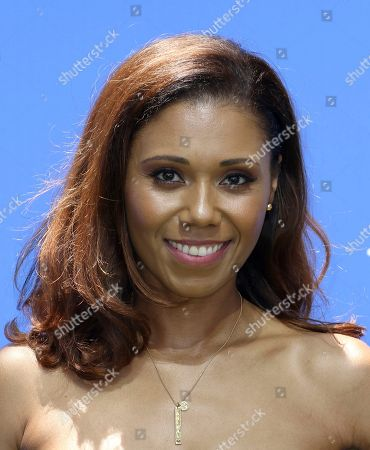 """Toks Olagundoye arrives at the World Premiere of """"Dog Days"""" at the Atrium at Westfield Century City, in Los Angeles"""