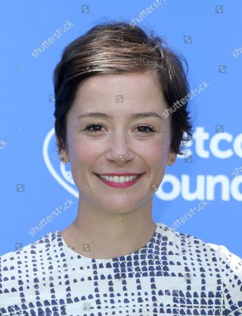 """Stock Image of Phoebe Neidhardt arrives at the World Premiere of """"Dog Days"""" at the Atrium at Westfield Century City, in Los Angeles"""