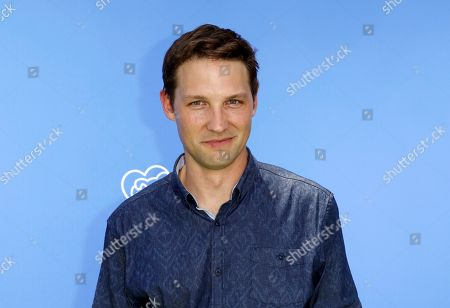 """Michael Cassidy arrives at the World Premiere of """"Dog Days"""" at the Atrium at Westfield Century City, in Los Angeles"""