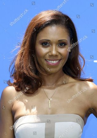 """Stock Image of Toks Olagundoye arrives at the World Premiere of """"Dog Days"""" at the Atrium at Westfield Century City, in Los Angeles"""