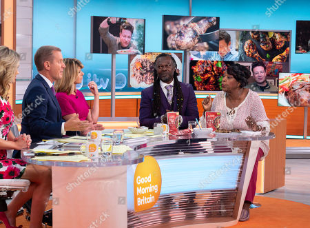 Charlotte Hawkins, Jeremy Kyle and Kate Garraway, Levi Roots and Rustie Lee