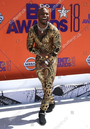 Milan Christopher arrives at the BET Awards at the Microsoft Theater, in Los Angeles