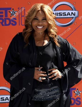 Mona Scott-Young arrives at the BET Awards at the Microsoft Theater, in Los Angeles