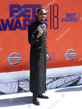Brandon T. Jackson arrives at the BET Awards at the Microsoft Theater, in Los Angeles