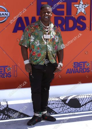Stock Photo of Blac Youngsta arrives at the BET Awards at the Microsoft Theater, in Los Angeles